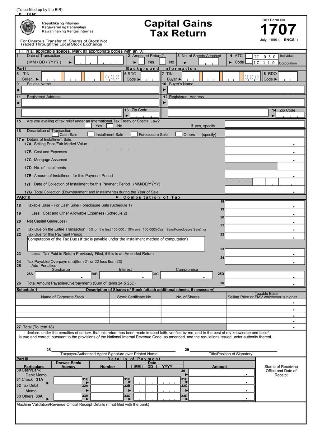 busapcom: BIR Form 1707 Download