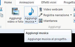 aggiungi musica