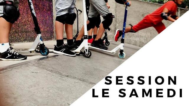 trottinette freestyle  scooter cours club association moniteur evry essonne
