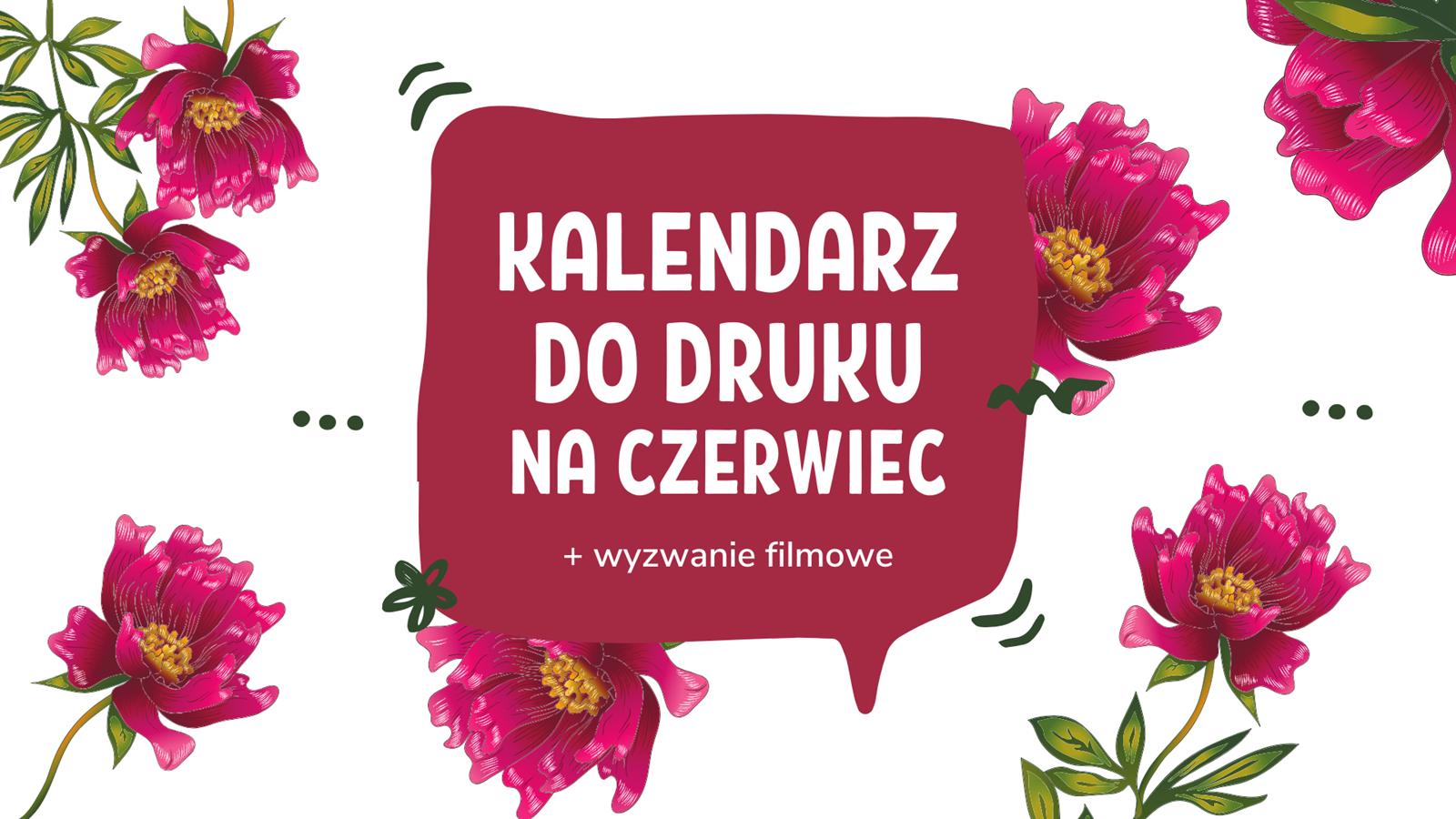 kalendarz do druku kwiaty ładny dziewczęcy różowy na czerwiec 2020 kalendarz do wydrukowania samemu