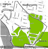 Map of the Woolloongabba/Dutton Park reserves