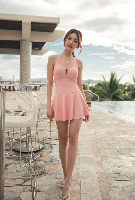 Korean model fashion - Park Jeong Yoon - Amanda One Piece Swimsuit - Picture 10