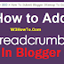 How to Add BreadCrumb on Blogger/BlogSpot in HTML
