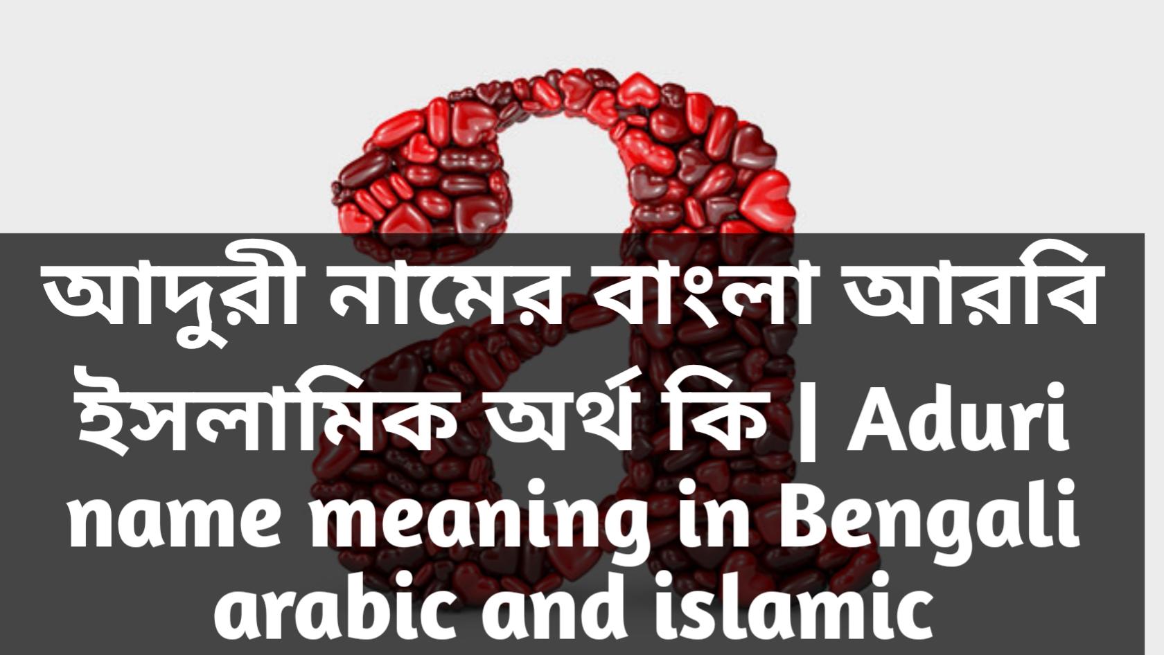 Aduri name meaning in Bengali, আদুরী নামের অর্থ কি, আদুরী নামের বাংলা অর্থ কি, আদুরী নামের ইসলামিক অর্থ কি,