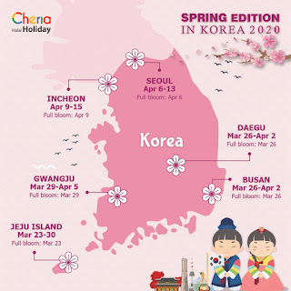 Musim Semi di Korea Selatan Cheria Holiday 2020