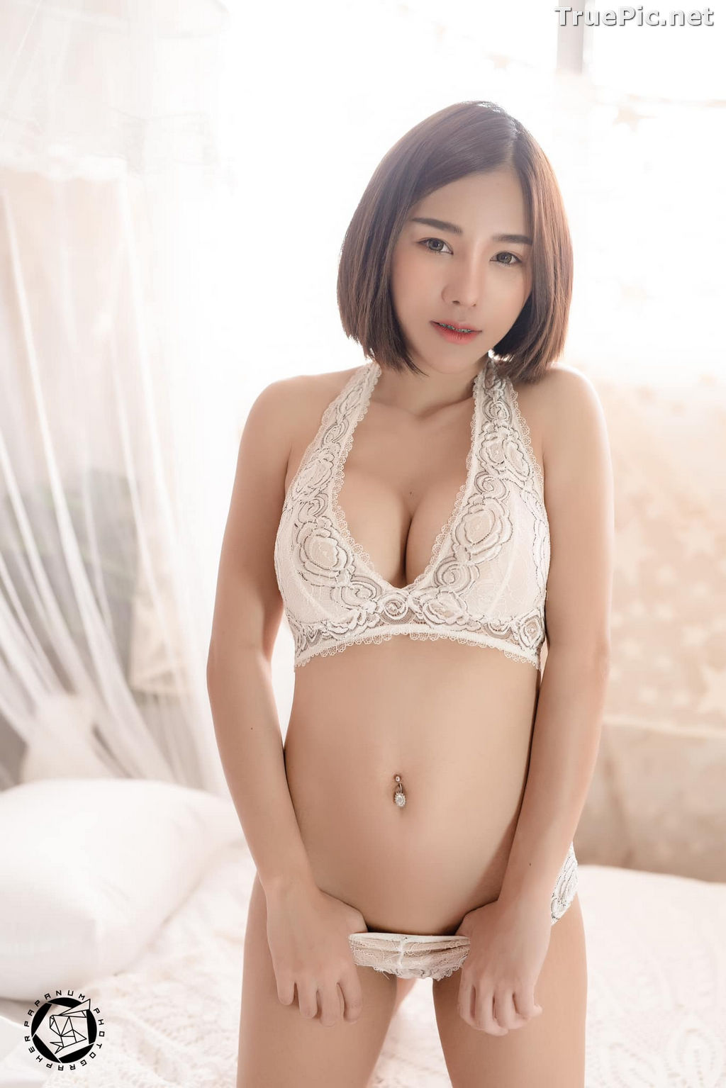 Image Thailand Model - Papoy Kuanpradit - Sexy White Lingerie - TruePic.net - Picture-20