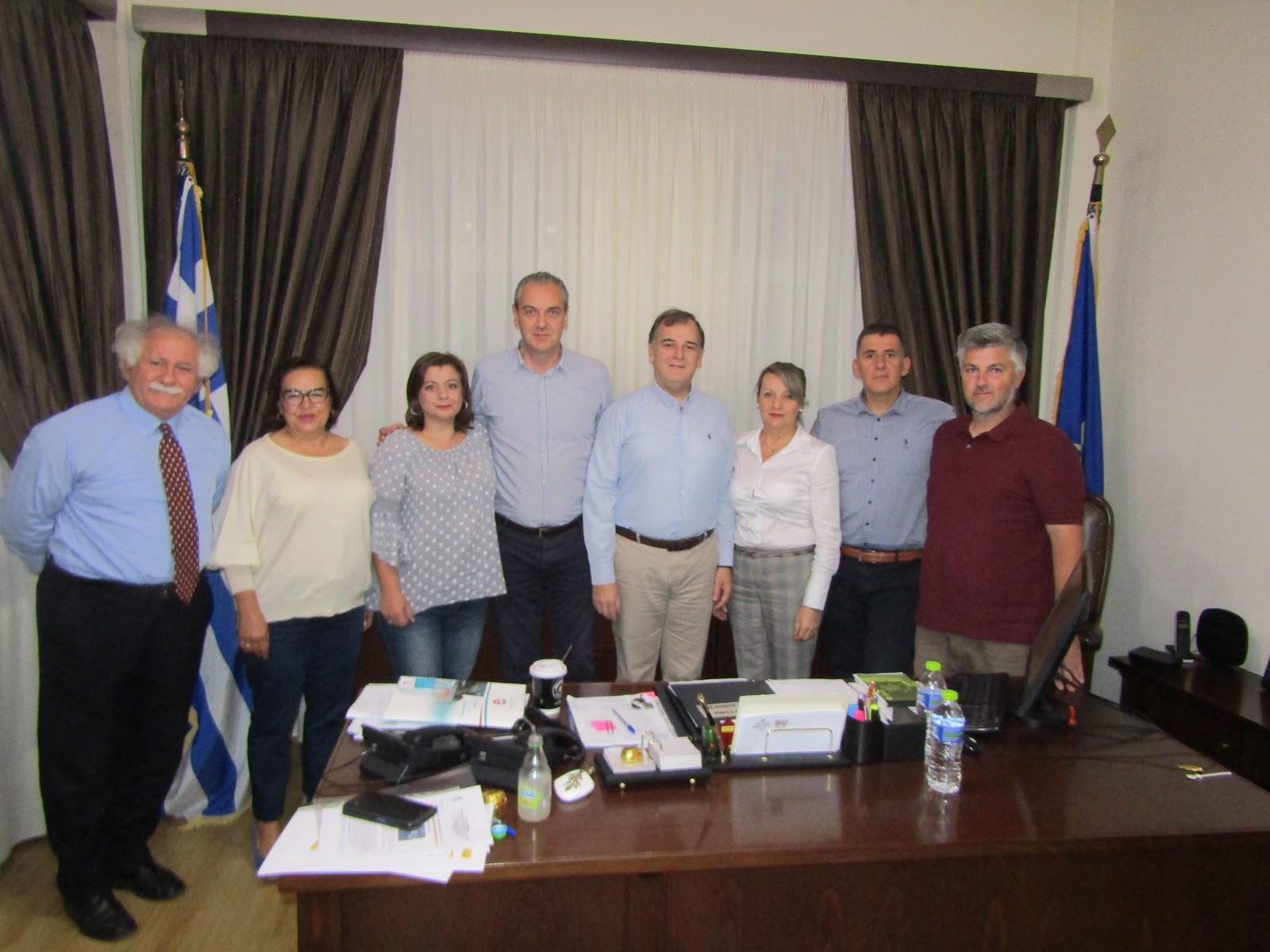 """Συνάντηση εργασίας Δημάρχου Ελασσόνας και Δικτύου """"ΠΕΡΡΑΙΒΙΑ"""""""