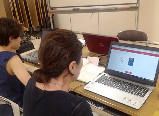 パソコンでお絵かき&ハガキ作成講座は土曜日開催なので、お子さんもいっしょに受講できます。