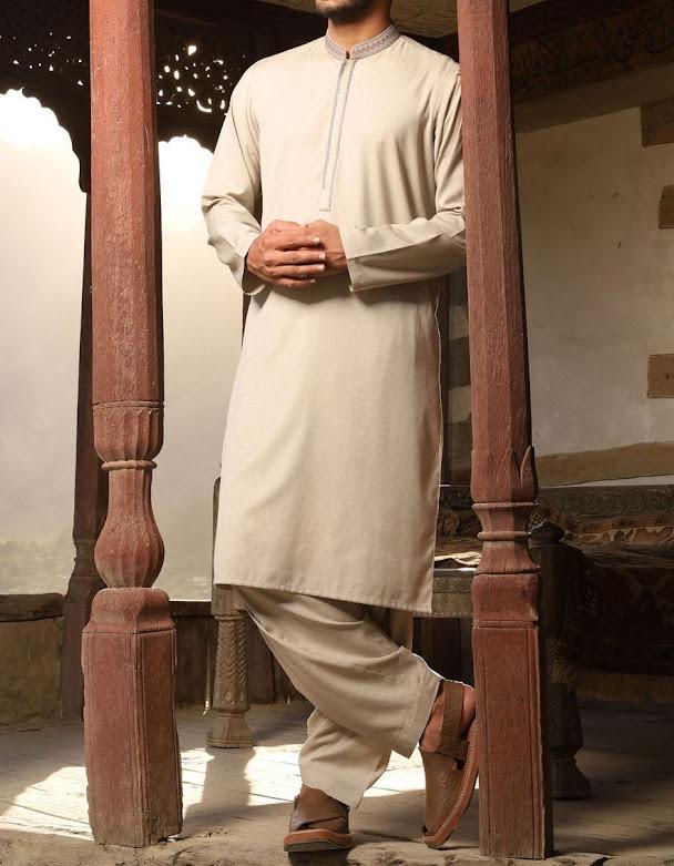 J. Junaod Jamshed winter stone color suit for men