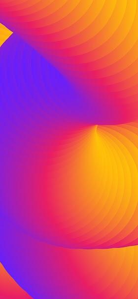 خلفية دوائر تجريدية برتقالية متداخلة