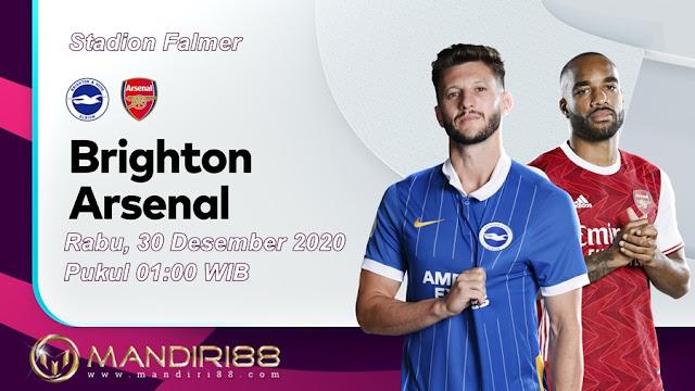 Prediksi Brighton Hove Albion Vs Arsenal, Rabu 30 Desember 2020 Pukul 01.00 WIB @ Mola TV
