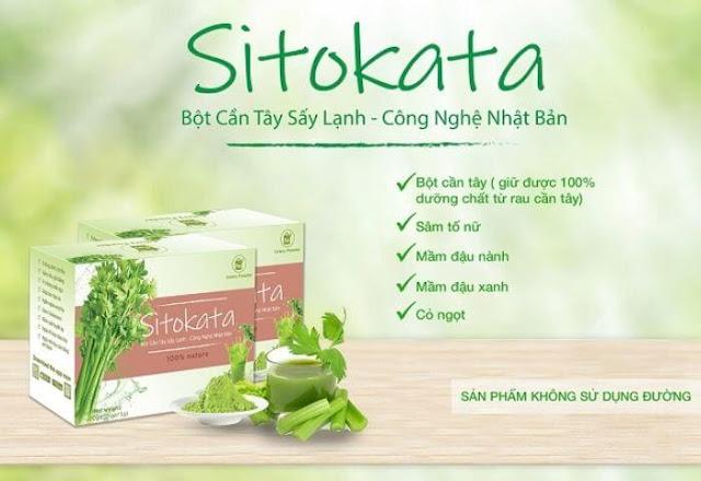 Bột cần tây Sitokata có tác dụng phụ không