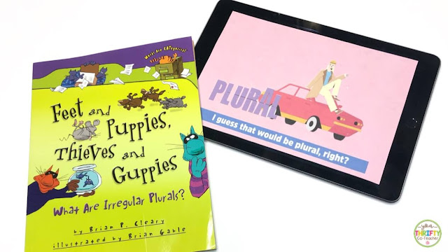 Looking for singular and plural nouns picture books and videos to share with upper elementary students to review the plural noun rules? Here are a few ideas & resources.