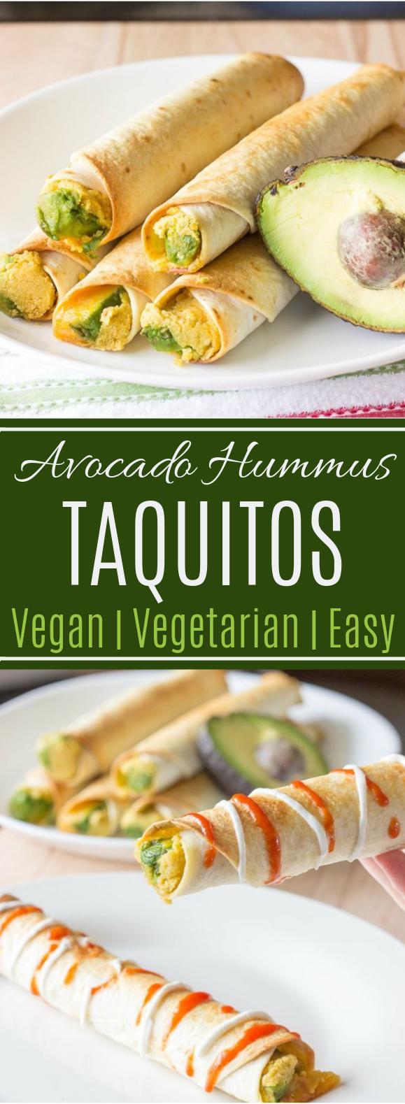 Avocado Hummus Taquitos #lunch #veganmeal