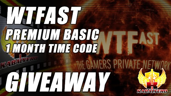 WTFast Premium Basic 1 Month Time Code Giveaway