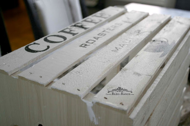 New Storage Crates Aged and Lettered Bliss-Ranch.com
