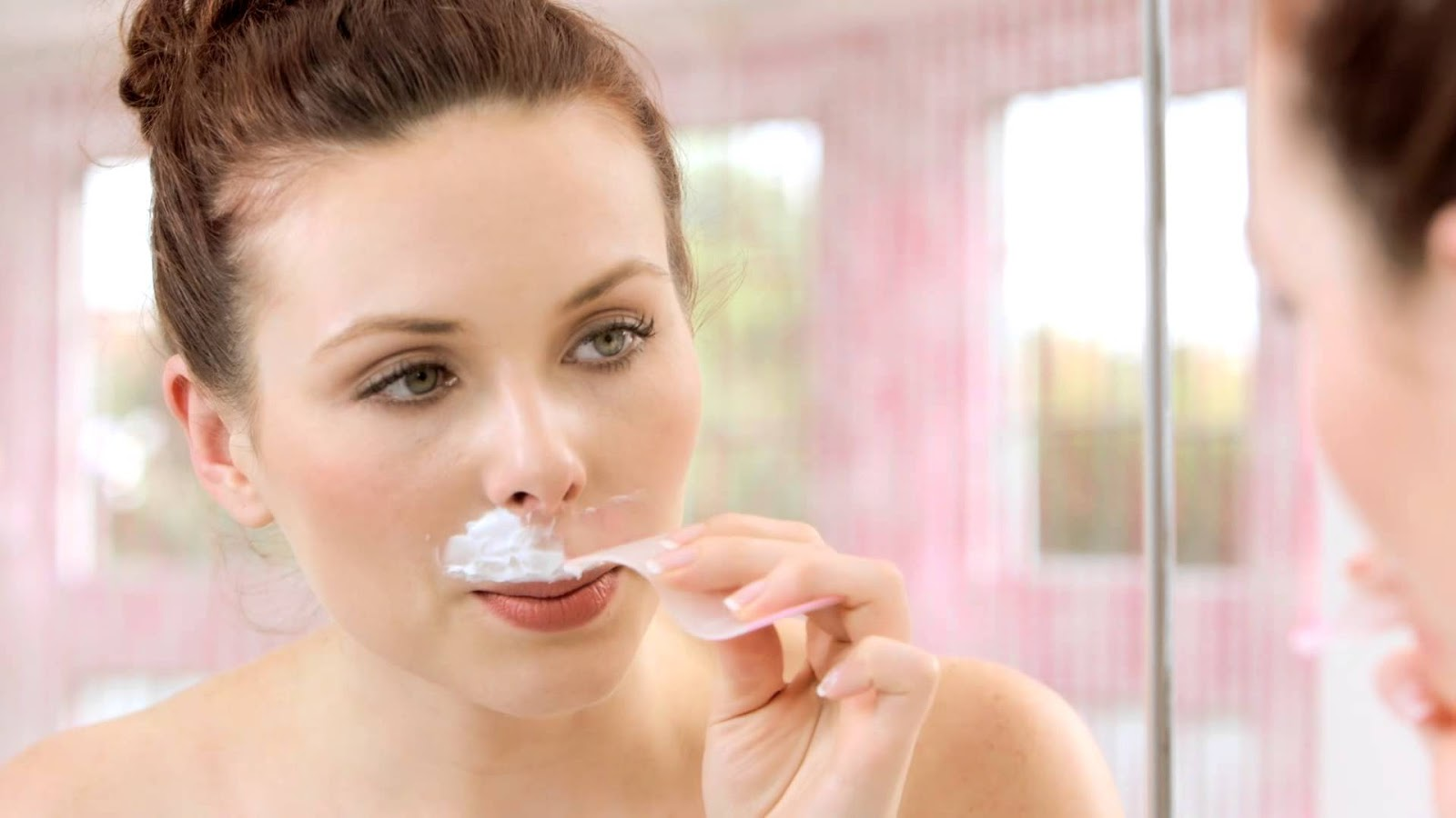 Female facial hair removal cream