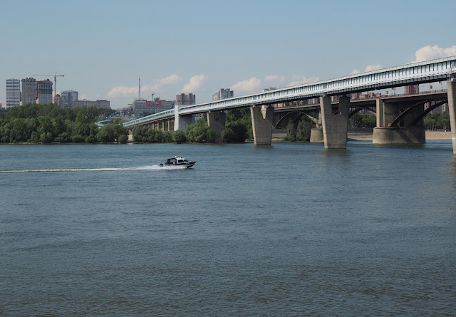 Новосибирск, метромост через Обь (Novosibirsk, metro bridge across the Ob)