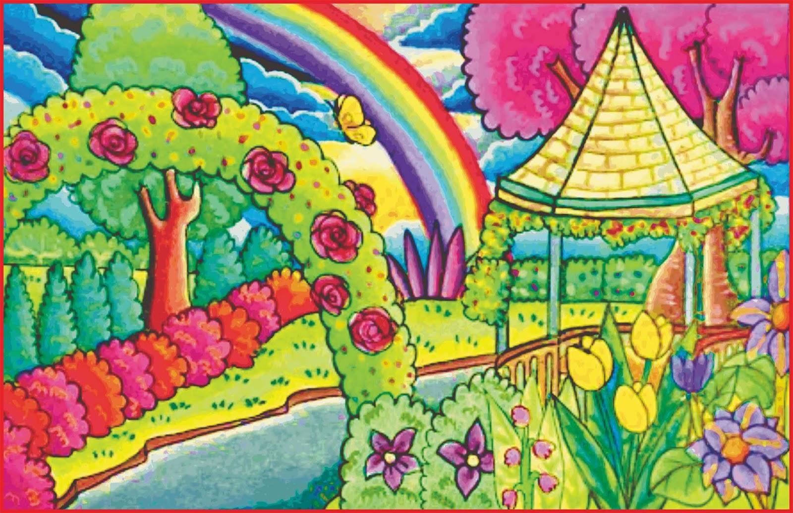 Cara Menggambar Pemandangan Alam Yang Bagus Dan Mudah Seni Budayaku