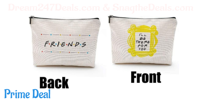 57% off CoolGiftHome Friends Forever [25th Anniversary Ed] Friends TV Show Merchandise Peephole Yellow Frame Cosmetic Bag