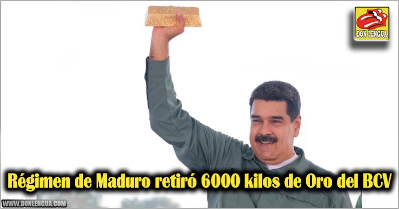 Régimen de Maduro retiró 6000 kilos de Oro del BCV