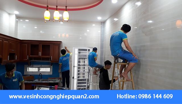 Dịch vụ vệ sinh nhà mới xây chuyên nghiệp tại quận 2