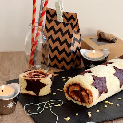 Illustration Gâteau Roulé Étoilé au Chocolat {Foodista #25}