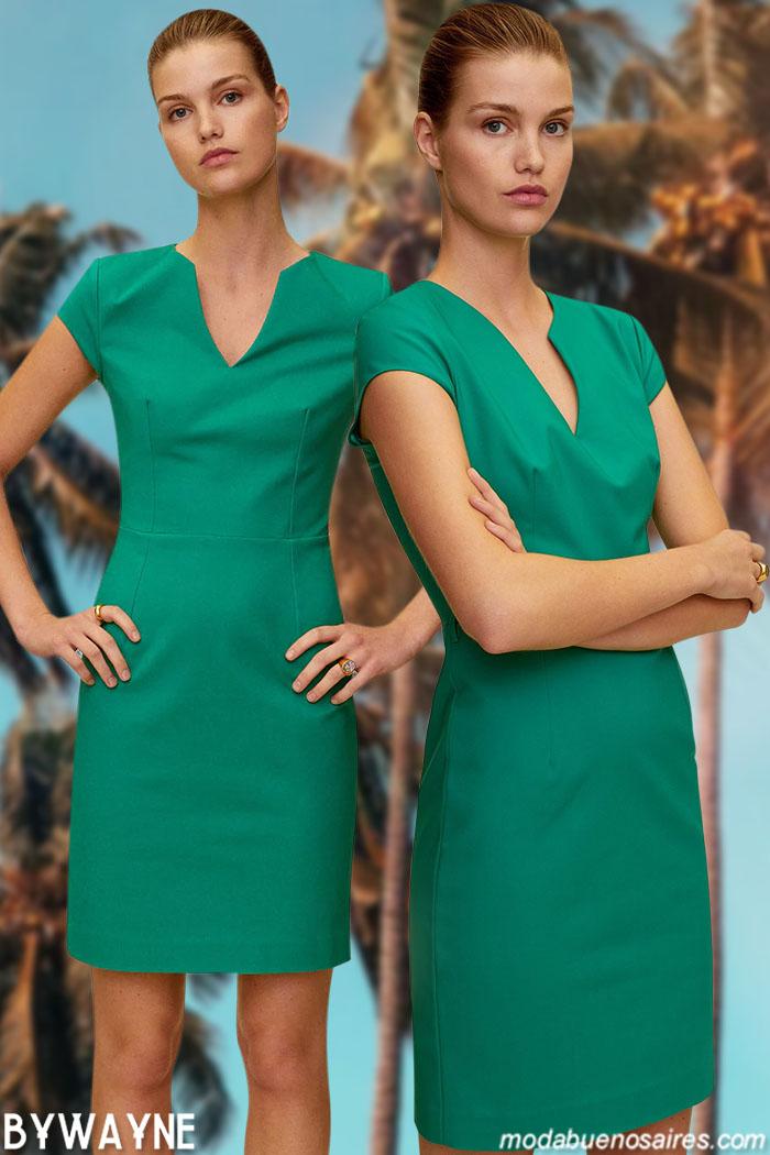 Vestidos cortos verdes verano 2021
