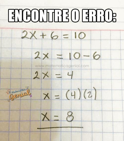 Desafio de matemática: encontre o erro na expressão