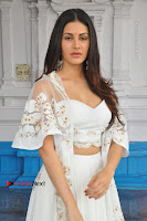 Telugu Actress Amyra Dastur Stills in White Skirt and Blouse at Anandi Indira Production LLP Production no 1 Opening  0110.JPG