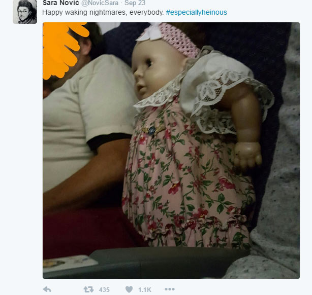 Man buys two flight tickets as he travels with girlfriend, a baby doll