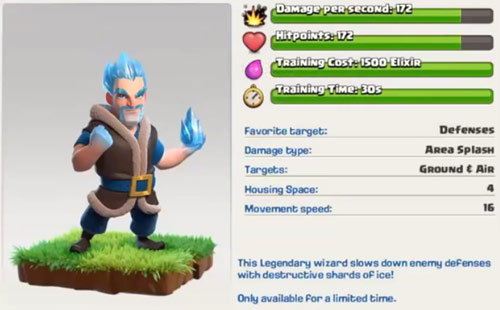 Ice Wizard New Troop Clash Of Clans