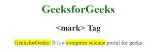 penggunaan tag mark pada html 5