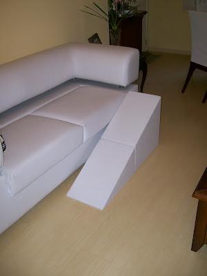 rampas para cães em sofá