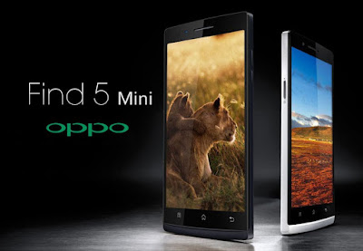 Oppo Find 5 Mini Specifications - LAUNCH Announced 2014, January  Also known as OPPO Find 5 Mini R827 DISPLAY Type IPS LCD capacitive touchscreen, 16M colors Size 4.7 inches (~65.4% screen-to-body ratio) Resolution 540 x 960 pixels (~234 ppi pixel density) Multitouch Yes BODY Dimensions  Build 137 x 68 x 7.7 mm (5.39 x 2.68 x 0.30 in) Weight 128 g (4.52 oz) SIM Dual SIM (Mini-SIM/ Micro-SIM, dual stand-by) PLATFORM OS Android OS, v4.2.2 (Jelly Bean) CPU Quad-core 1.3 GHz Cortex-A7 Chipset Mediatek MT6582M GPU Mali-400MP2 MEMORY Card slot microSD, up to 32 GB (dedicated slot) Internal 4 GB, 1 GB RAM CAMERA Primary 8 MP, autofocus, LED flash Secondary 2 MP Features Geo-tagging, touch focus, face detection Video 720p@30fps NETWORK Technology GSM / HSPA 2G bands GSM 850 / 900 / 1800 / 1900 - SIM 1 & SIM 2 3G bands HSDPA 2100 Speed HSPA 42.2/11.5 Mbps GPRS Yes EDGE Yes COMMS WLAN Wi-Fi 802.11 b/g/n, Wi-Fi Direct, hotspot GPS Yes, with A-GPS USB microUSB v2.0 Radio FM radio Bluetooth v4.0, A2DP, LE FEATURES Sensors Accelerometer, proximity, compass Messaging SMS (threaded view), MMS, Email, Push Email Browser HTML5 Java No SOUND Alert types Vibration; MP3, WAV ringtones Loudspeaker Yes 3.5mm jack Yes BATTERY   Stand-by Removable Li-Po 2000 mAh battery Talk time  Music play  MISC Colors White, Black  - MP4/H.264/FLAC player - MP3/eAAC+/WAV player - Document viewer - Photo editor