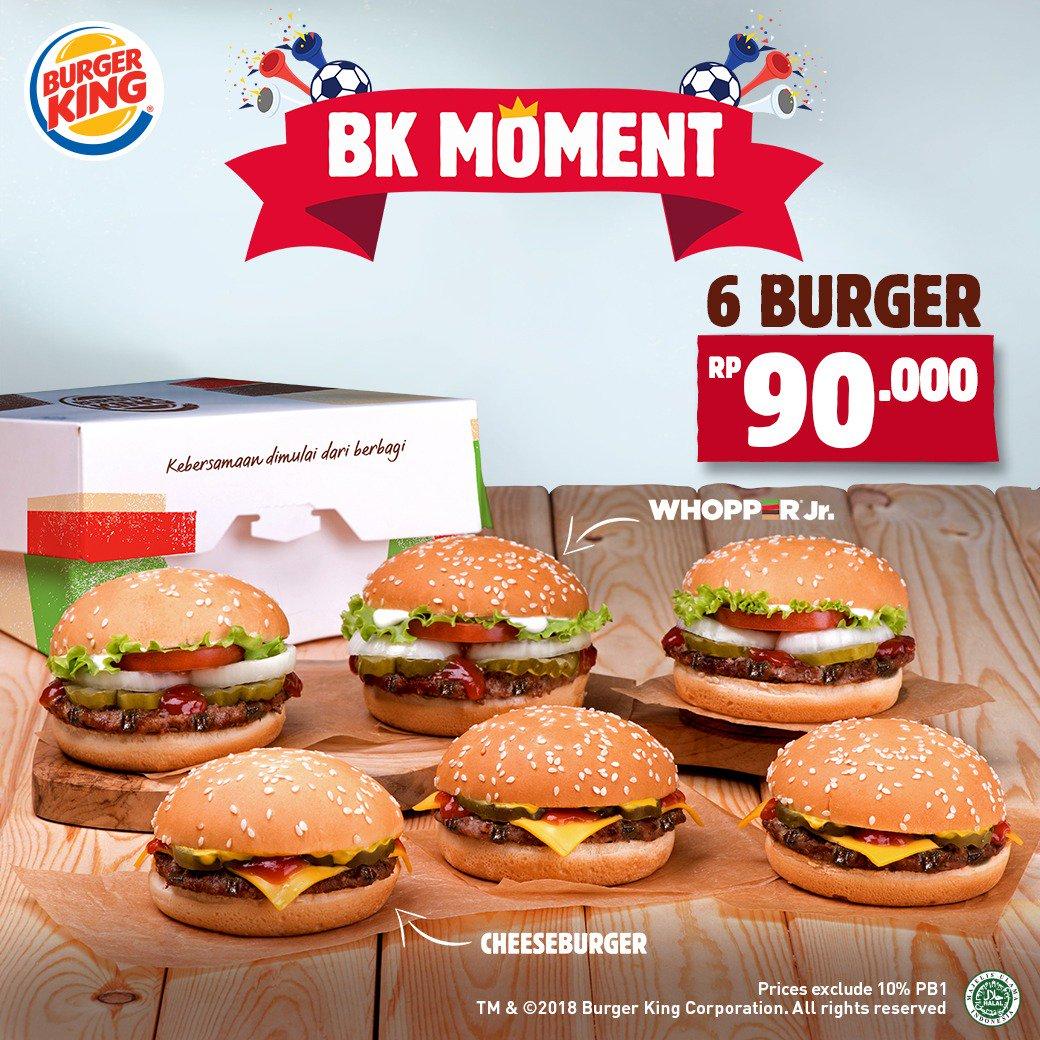 Burger King - Promo BK Moment 6 Burger Cuma 90 Ribuan