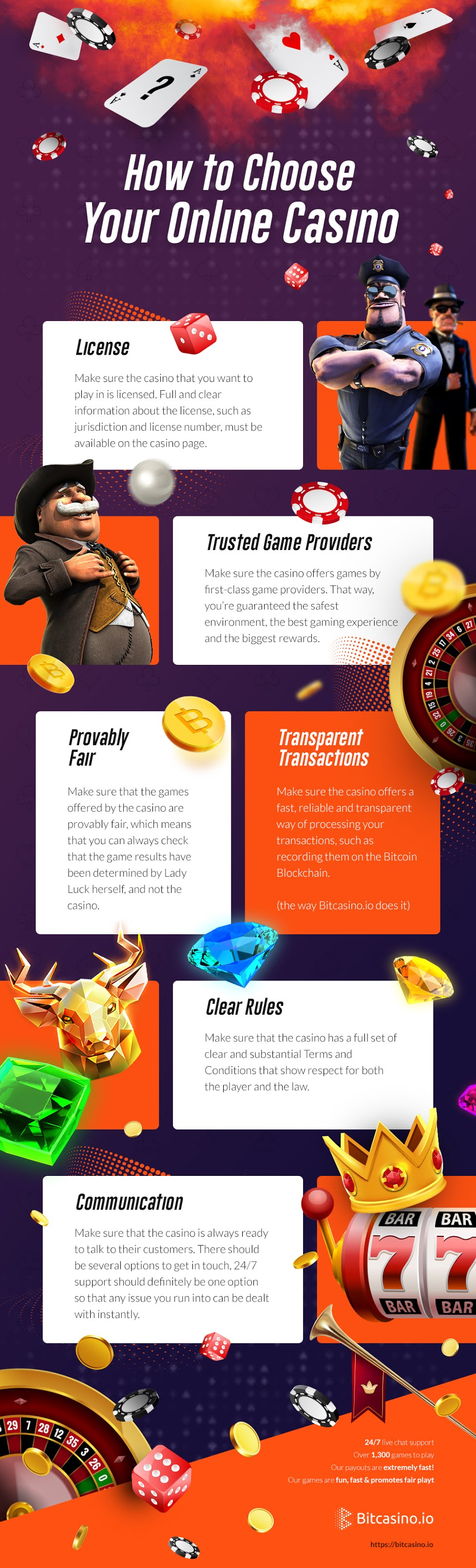 How To Choose An Online Casino #infographic