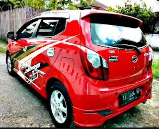 Modifikasi Mobil Ayla Warna Merah Polos, Metalik, Ferrari ...