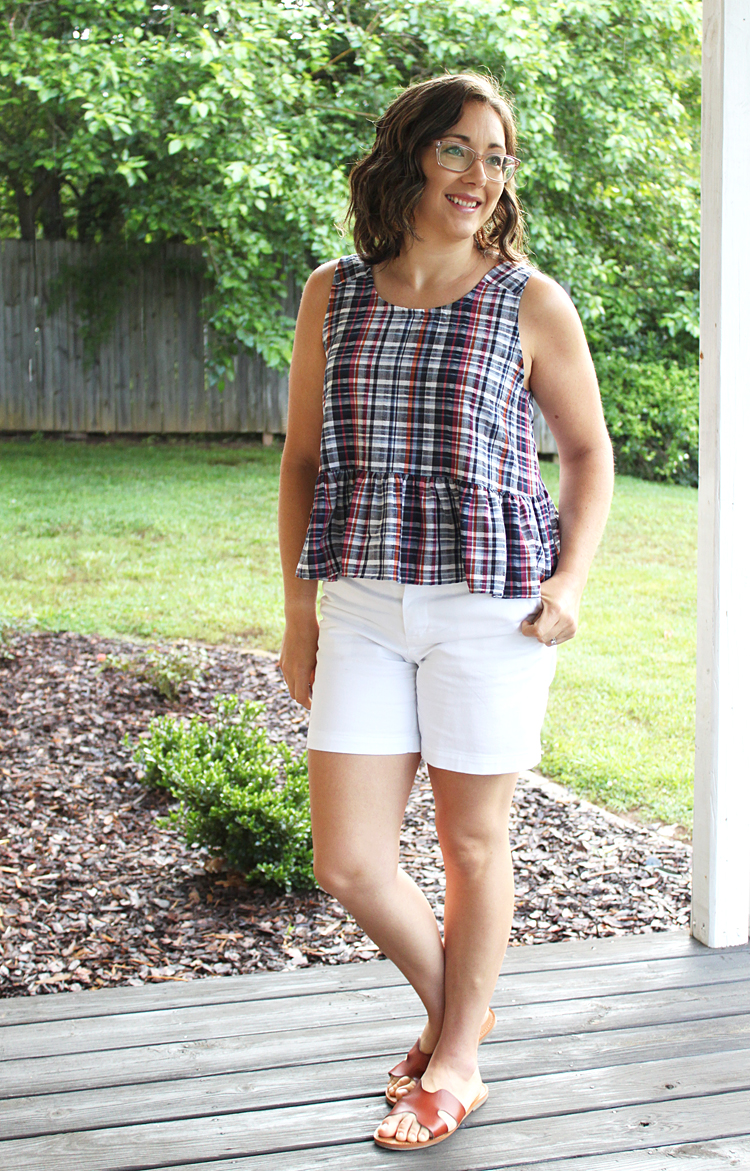 Free Peplum Tank // Sewing For Women
