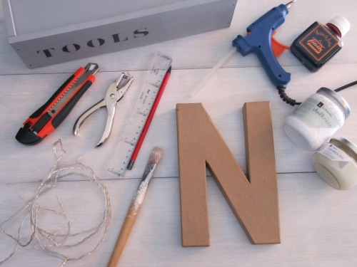 Materiales DIY Letras luminosas