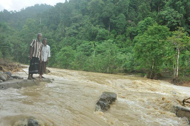Irigasi di Mukim Pante Ceuremen Aceh Jaya Rusak Diterjang Banjir