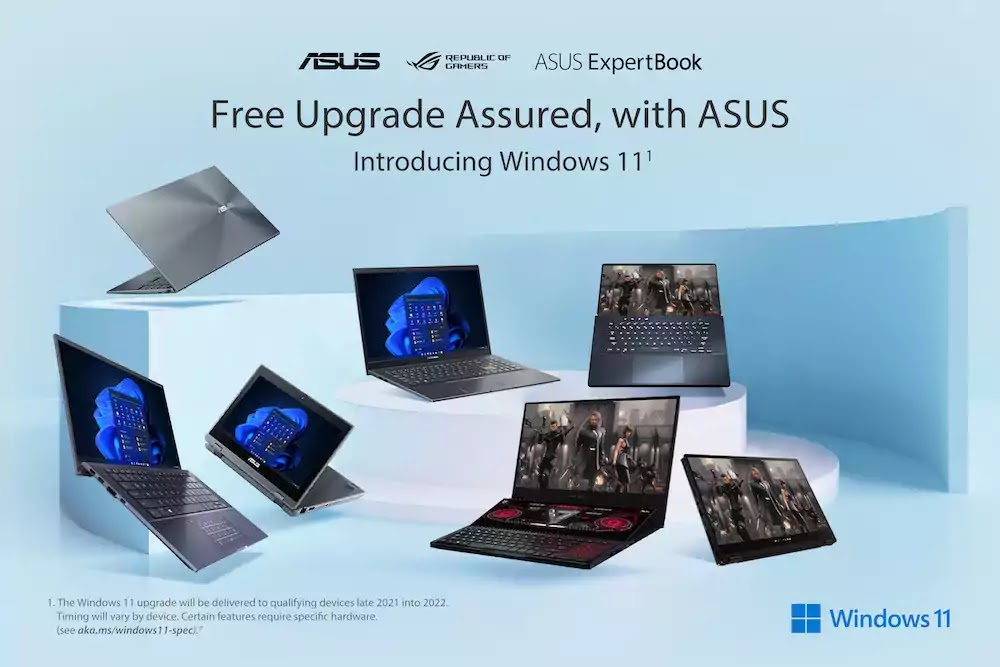 ASUS and ROG laptops to be updated with Windows 11