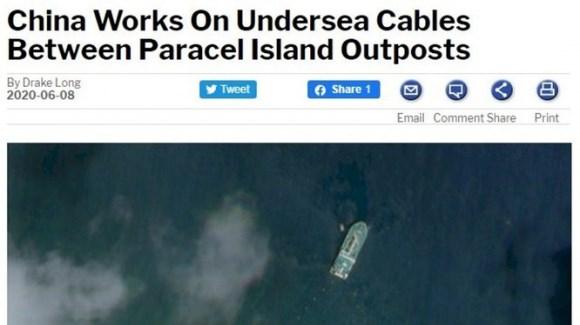"""Trung Quốc rải cáp ngầm trên vùng biển Hoàng Sa: Cẩn thận với âm mưu """"đánh lén"""""""