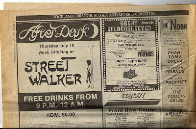 Street Walker band at After Dark The Nook Great Gildersleeves from The Aquarian 1981
