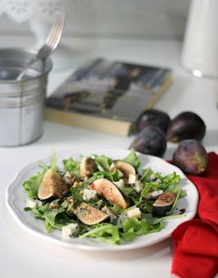 insalata con fichi e gorgonzola piccante