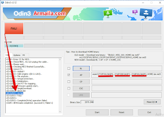 Hasil Flashing Samsung SM-J710FN Stock Firmware (flash file) Dari firmwarefile.com = GAGAL, FAIL setelah cm.bin dengan rincian berikut ini: