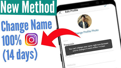 how to change instagram name before 14 days