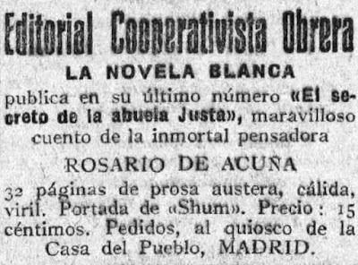 Anuncio publicado en El Socialista el 7-2-1929