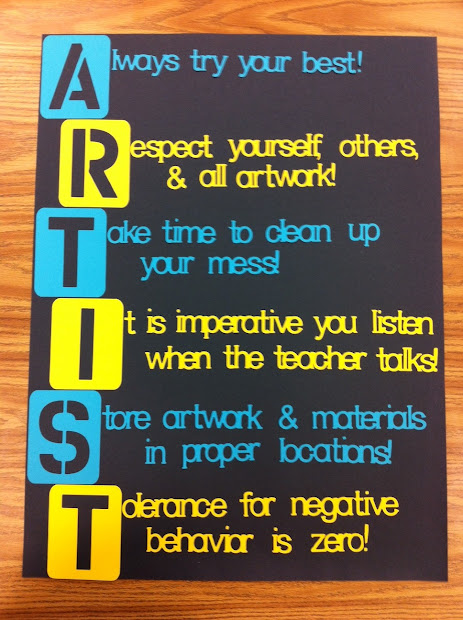 Art Classroom Safety Rules