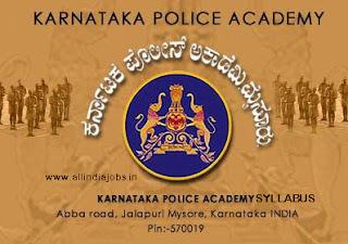 Karnataka Police SI Syllabus
